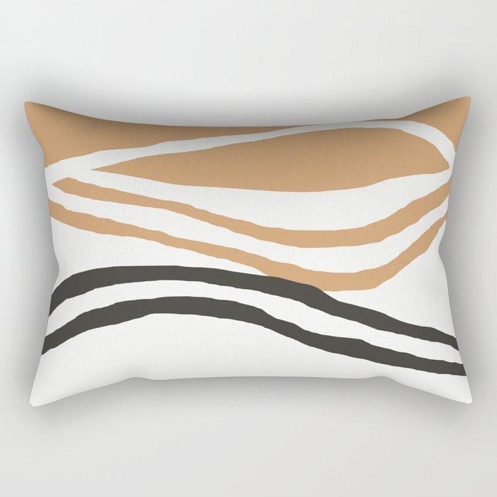 Rhode - ocean art, wall art, minimal art, earth tone, earth palette, minimalist, olivia st james art Rectangular Pillow