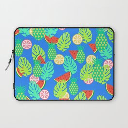 Watermelons and pineapples in blue Laptop Sleeve