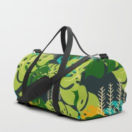 Colorful Pile of Leaves in the Rain Forest Duffle Bag