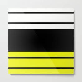 TEAM COLORS 9...Black , yellow. white Metal Print