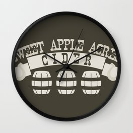 Sweet Apple Acres Cider Wall Clock