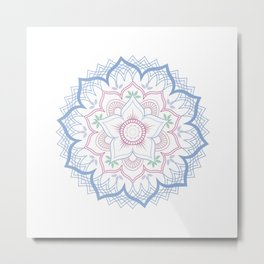 Decorative tribal Mandala Metal Print