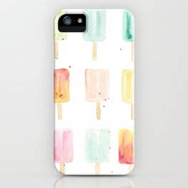 Watercolor Popsicles iPhone Case