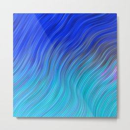 stripes wave pattern 2 with lines vc80i Metal Print