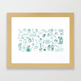 Sketches Framed Art Print