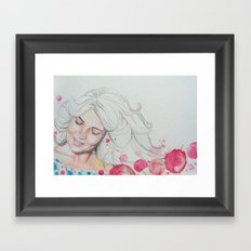 mama watercolor acuarela Framed Art Print