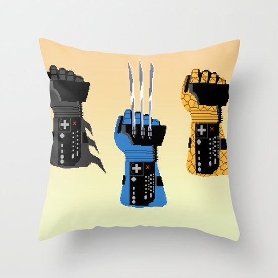 Power Glove Love Throw Pillow