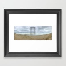 The Seaward Door (Panorama) Framed Art Print
