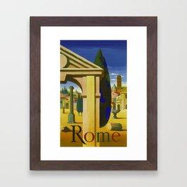 Vintage Rome Italy Travel Framed Art Print