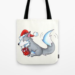 Secret Santa Wolf Tote Bag