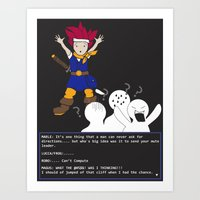 chrono trigger Art Prints featuring Chrono Lost by Sampsonknight