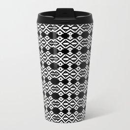 Arrows and Diamond Black and White Pattern 2 Travel Mug