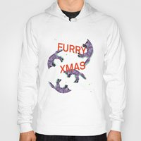 furry Hoodies featuring Furry xmas by Sil-la Lopez