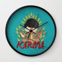 karma Wall Clocks featuring Karma by Seez