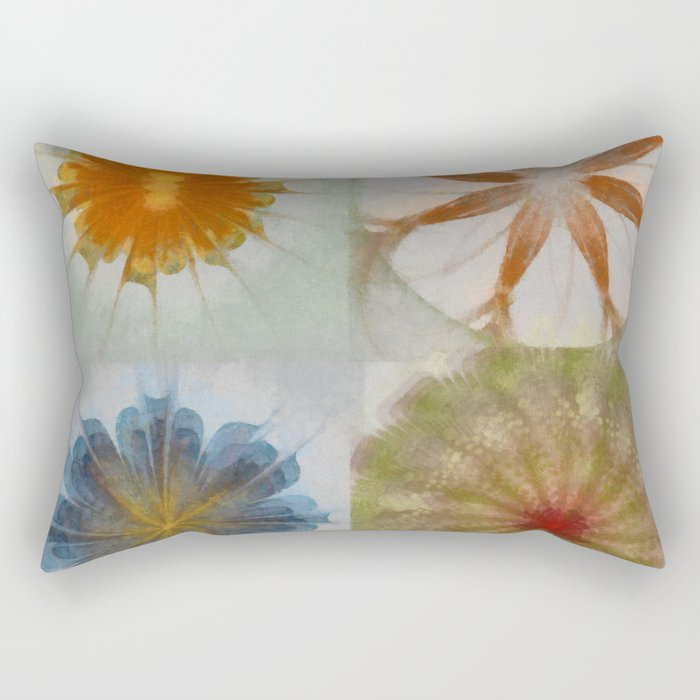 Fulvous Certainty Flowers  ID:16165-113635-96480 Rectangular Pillow