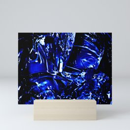 Liquid Cobalt Metal Mini Art Print