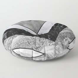 Shimmering mirage - grey marble chevron Floor Pillow