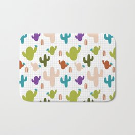 Cactus orange and green #homedecor Bath Mat