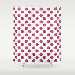 Pink flowers on white Shower Curtain