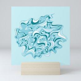 Urchin Blue Mini Art Print