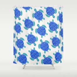Sea Turtle U2013 Blue Palette Shower Curtain