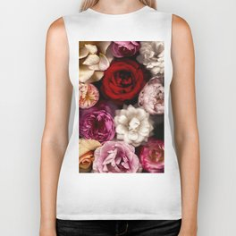 Pink, White, and Red Roses Biker Tank