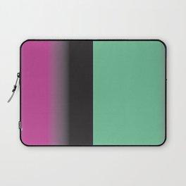 Pink, Black and Turq Gradient Stripe Laptop Sleeve