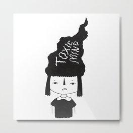 Toxic Minded Girl Metal Print