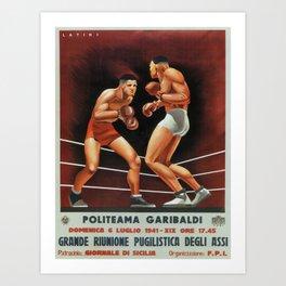 Vintage poster - Boxing Art Print