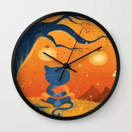 Zen Cat Wall Clock