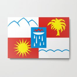 Sochi flag - Authentic version Metal Print