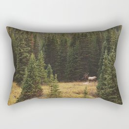 Rocky Mountain Creek Elk Rectangular Pillow