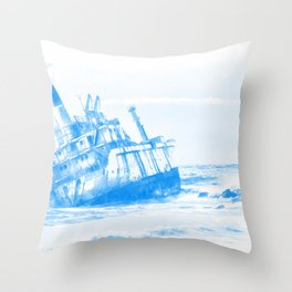 shipwreck aqrewb Throw Pillow