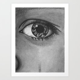 Eye Cry Art Print
