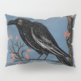 Raven On A Cold And Rainy Day Pillow Sham