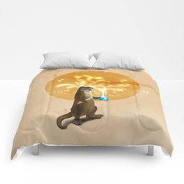 Otter Doing Science Comforters
