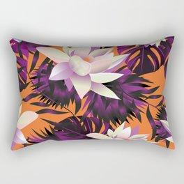 Botanic pattern orange Rectangular Pillow