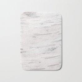 White Birch Wood Bath Mat