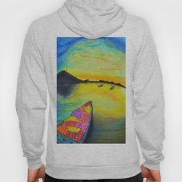 Morning on the Lake Kashmir Hoody