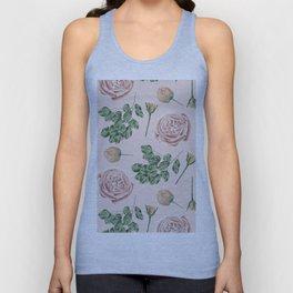 Flower Shop Roses on Blush Pink Unisex Tank Top