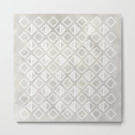 Marble with rhombus Metal Print