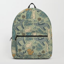REINDERS IN THE FOREST GREEN GREY Backpack