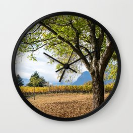 Oak And Grapevines Wall Clock