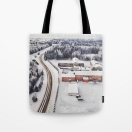 Winter view from the sky Tote Bag