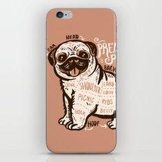 Anatomy of pug iPhone & iPod Skin