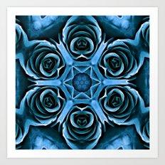 Blue Rose Fractal1 Art Print