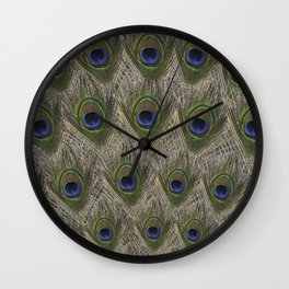 Peacock tail Wall Clock