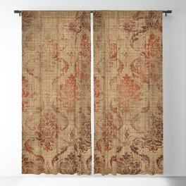 Aged Damask Texture 1 Blackout Curtain