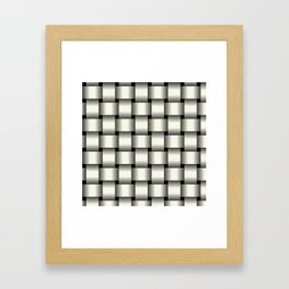 Large Ivory Weave Framed Art Print