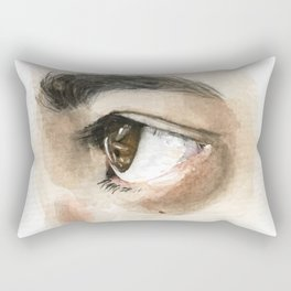 Brown Eye Study Rectangular Pillow